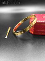 Сartier Love Bracelet Gold фианит