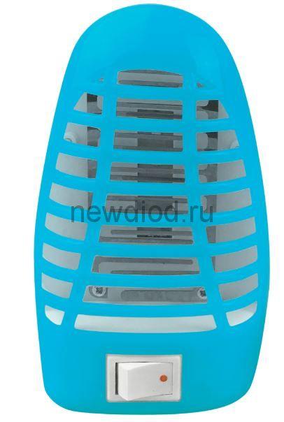 Ночник светодиодный москитный NLM 01-MB синий с выключателем 230В IN HOME