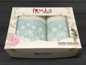 Ментол-Кремовый Papatya ( 50х90+70х130 ) в коробке Набор полотенец Фиеста