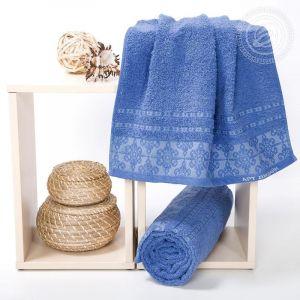 """Набор полотенец махровых """"Орнамент"""" синий размер Набор из 2 штук"""