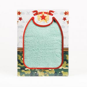 """Полотенце подарочное """"С 23 февраля!"""" махра ПМ-02-мятный размер 50 х 90"""