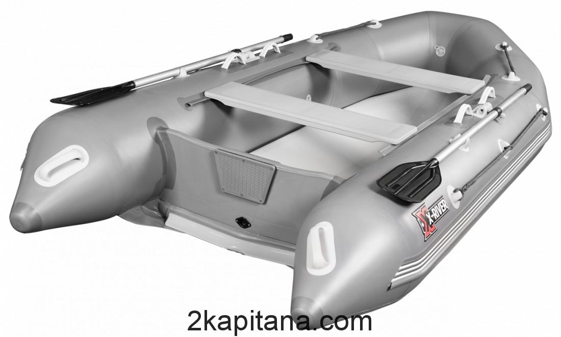 Надувная лодка НДВД ROCKY 375 (дно высокого давления) GRAY или WHITE