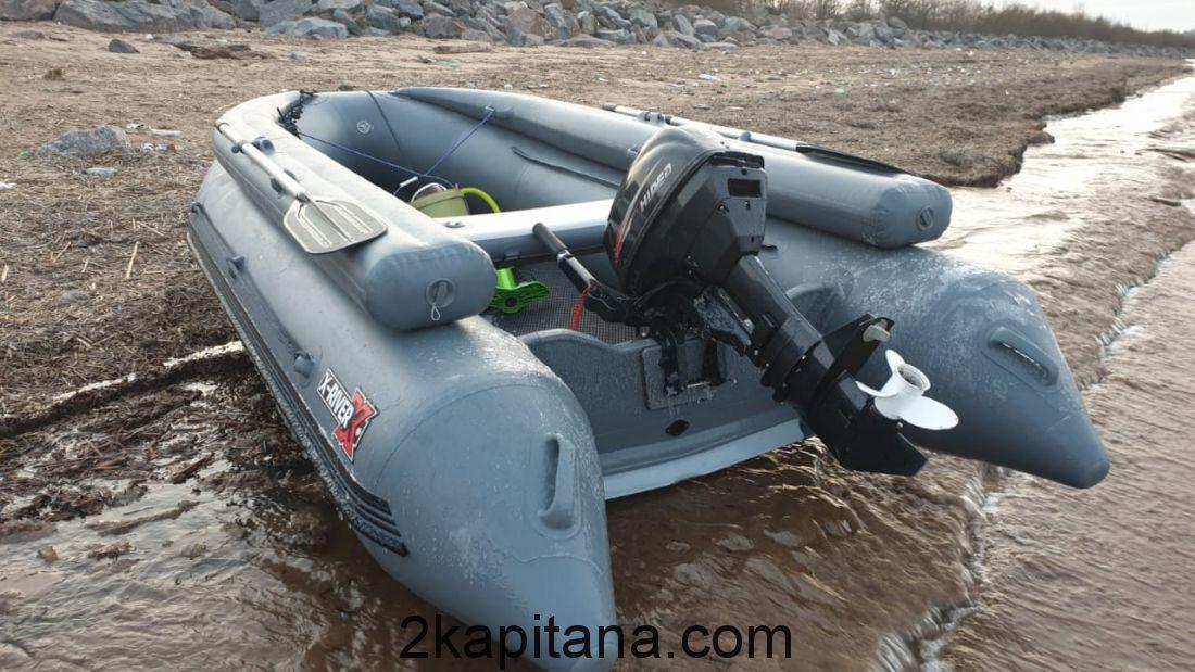 Надувная лодка НДВД ROCKY 375 + Фальшборт (дно высокого давления) GRAY или WHITE