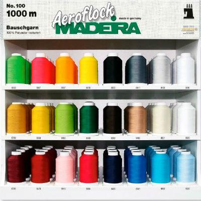 Оверлочные текстурированные нитки Madeira Aeroflock №100 (1000м)