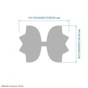 Шаблон ''Хвостики-6'' , ПЭТ 0,7 мм (1уп = 5шт)