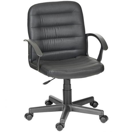 """Кресло руководителя Olss """"Чип"""" 192 ультра, кожзам черный, опора-пиастра"""