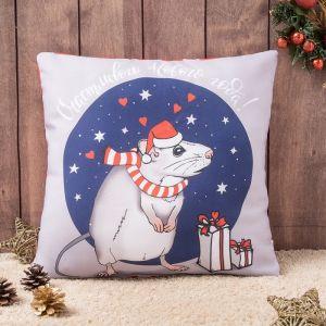 Подушка-игрушка декор. Крыса счастья 02 40х40 см, габардин, синтетич.волокно, 160 гр/м, пэ 1   43777
