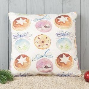 Подушка декоративная с фотопечатью Новогодние шары 40х40 см, хлопок 34%, полиэфир 66%   4413189