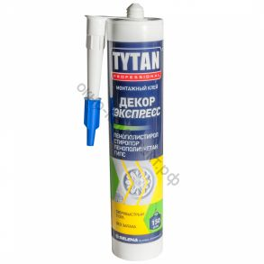 Клей монтажный Tytan Professional Декор Экспресс 310мл белый