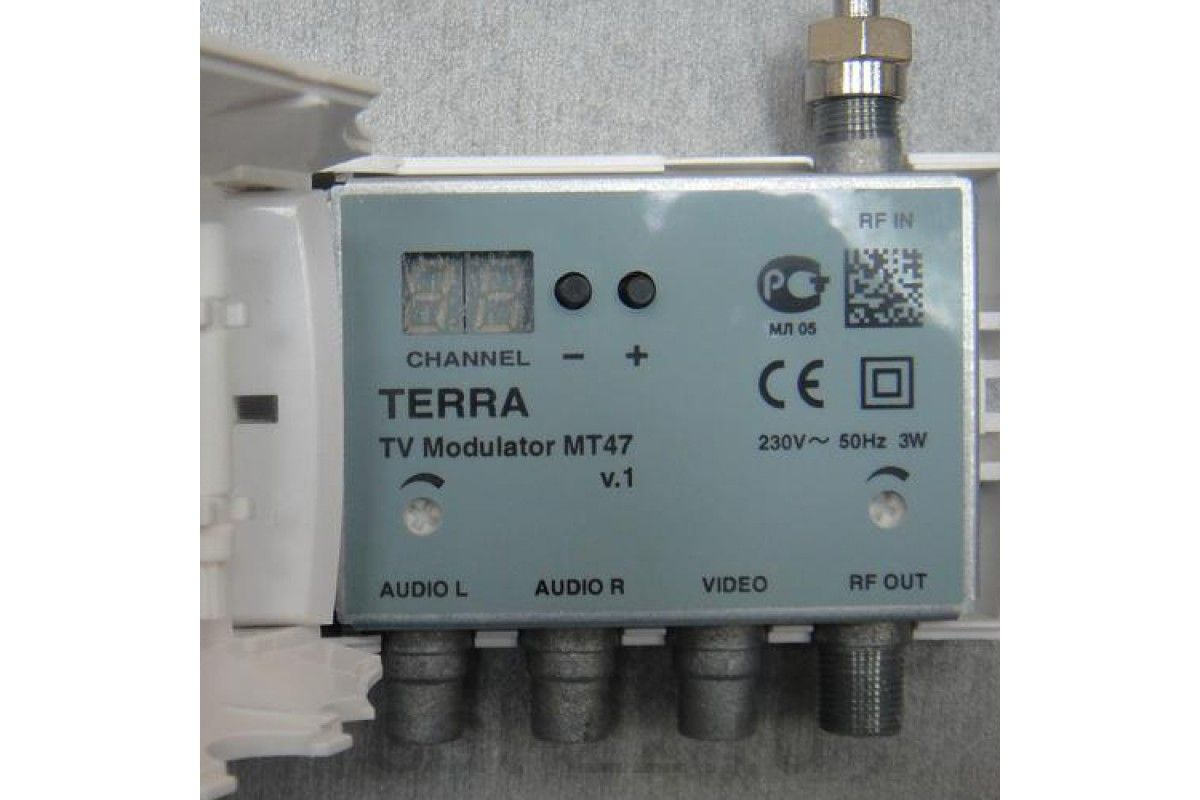Модулятор ТВ двухполосный Terra MT47