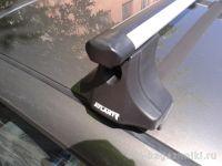 """Багажник на крышу Volkswagen Golf 4, Атлант, аэродинамические дуги """"Эконом"""""""