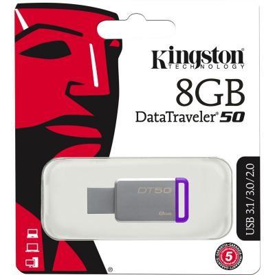 8GB USB3.1-флэш накопитель Kingston DT50 (металл)