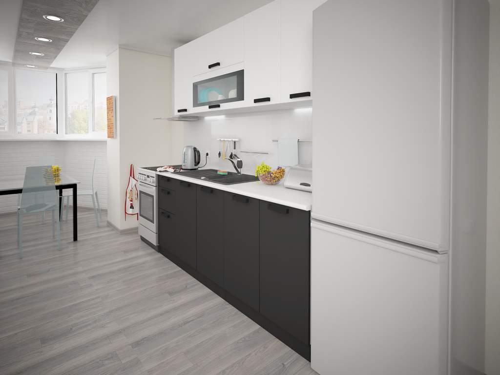 Кухонный гарнитур Фиджи (риф,скай,лайм,белый,графит,бетон,оранж,сахара) 2,0м