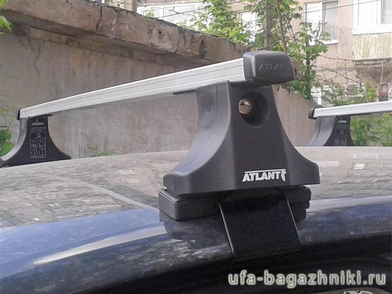 Багажник на крышу Volkswagen Golf Plus, Атлант, прямоугольные дуги