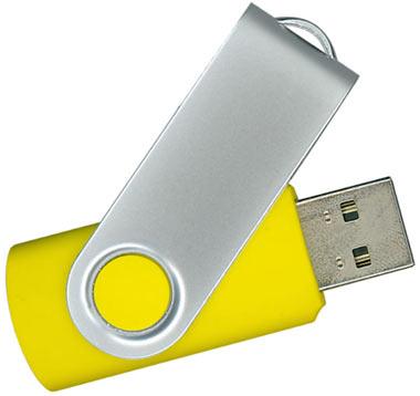 16GB USB-флэш корпус для флешки Apexto U201, желтая