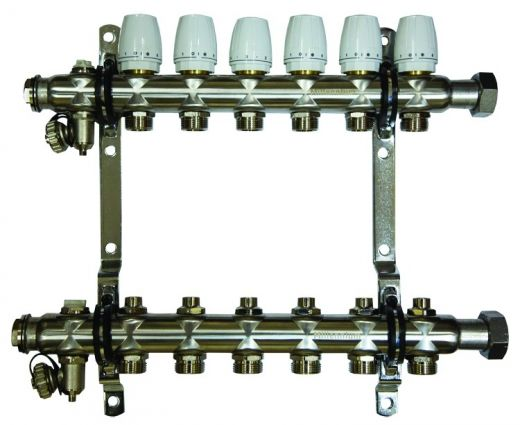 Коллектор для отопления Millennium 1''  6 вых.