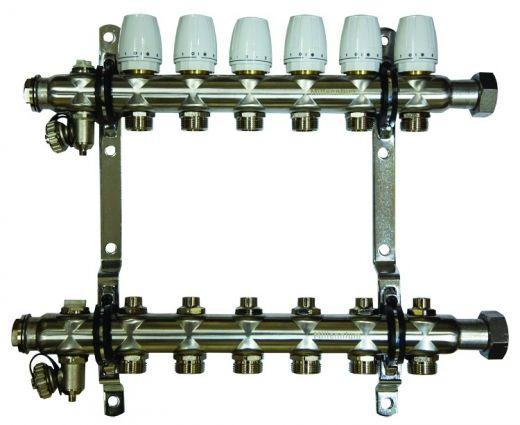 Коллектор для отопления Millennium 1''  8 вых.