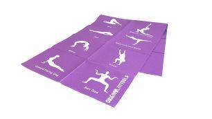 Складной коврик для йоги с упражнениями Original Fittools FT-YGMF-04 (4 мм)