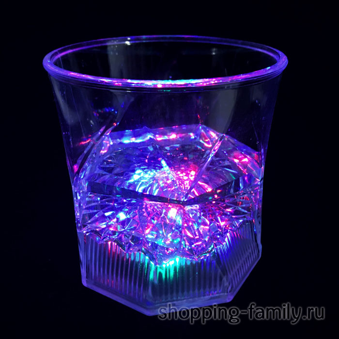 Светящийся бокал для виски Blinking Glass, 1шт