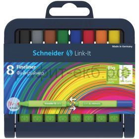 Ручка капиллярная Schneider Line-It 8цв. 0.4мм 191298