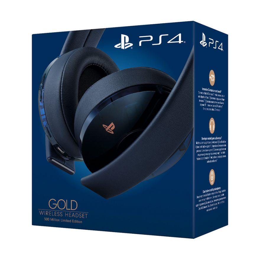 Беспроводная стерео гарнитура Sony Gold Wireless Headsed 500 Million Limited Edition 7.1