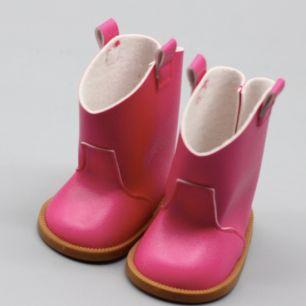 Обувь для куклы 7,5 см - сапожки розовые