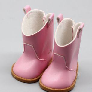 Обувь для куклы 7,5 см - сапожки светло-розовые