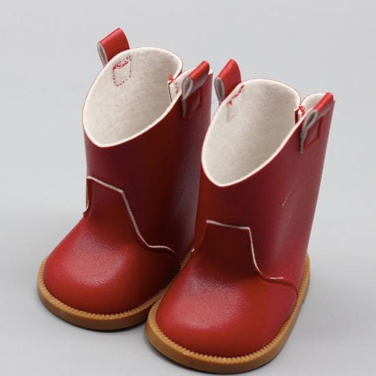 Обувь для куклы 7,5 см - сапожки красные