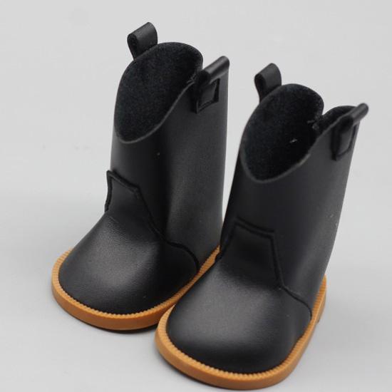 Обувь для куклы 7,5 см - сапожки черные