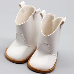 Обувь для куклы 7,5 см - сапожки белые