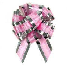 """Бант-шар №3,2 """"Воздушные сердца"""", цвет розовый"""