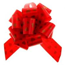 """Бант-шар №5 """"Сердца"""", цвет красный"""