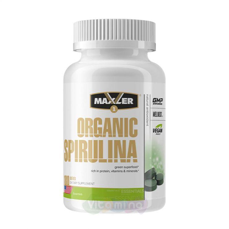 Maxler Спирулина Organic Spirulina 500 мг, 180 табл