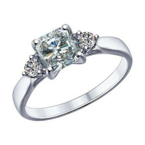 Помолвочное кольцо из серебра с фианитами 89010033 SOKOLOV