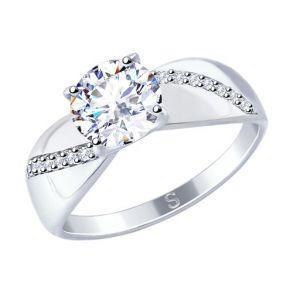 Кольцо из серебра со Swarovski Zirconia 89010106 SOKOLOV