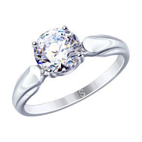 Кольцо из серебра со Swarovski Zirconia 89010113 SOKOLOV