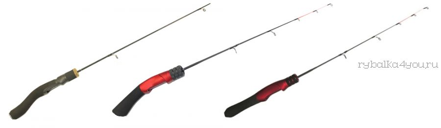 Зимняя удочка Kaida Skyrocket soft 55 см красная ручка (Артикл : SKYROCKET-550)
