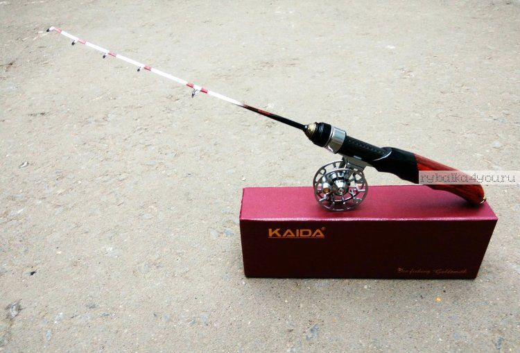 Зимняя удочка Kaida Gold Smith с катушкой, упакована в подарочную коробку (Артикл : GOLDSMITH  )