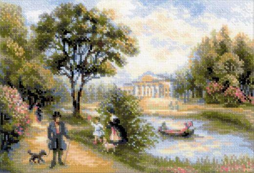 Набор для вышивания крестом Прогулка в парке №1527 фирма Риолис