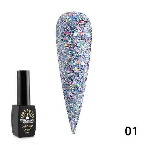 Гель лак Diamond Ball 8мл Global Fashion 01