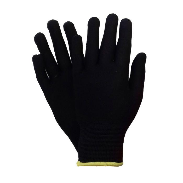 Jeta JS011nb Бесшовные нейлоновые защитные перчатки. Размеры: M, L. Цвет: черный, в упаковке 12пар.