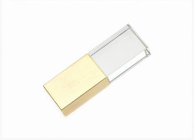 32GB USB3.0-флэш накопитель Apexto UG-003 стеклянный, белый LED, золотой колпачек