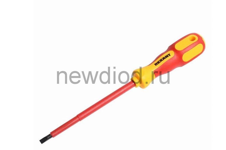 Отвертка шлицевая «Электрика» SL 5х125 мм REXANT