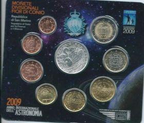 Официальный набор евро-монет Сан-Марино 2009 (9 монет)