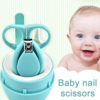 Детский маникюрный набор Baby four set nail scissors (цвет голубой)_1