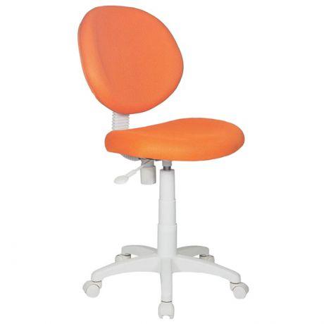 Кресло детское Бюрократ KD-W6/TW-96-1 оранжевый, без подлокотников, пластик белый