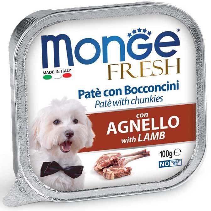 Monge Dog Fresh консервы для собак ягненок 100 гр.