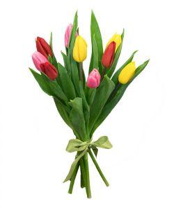 Тюльпаны букет 9шт в ассортименте