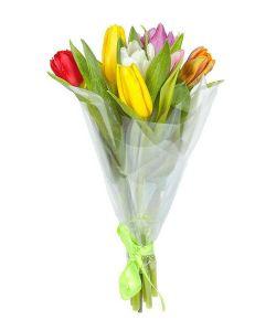 Тюльпаны букет 7шт в ассортименте