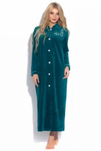 Женский велюровый халат Aurore изумруд